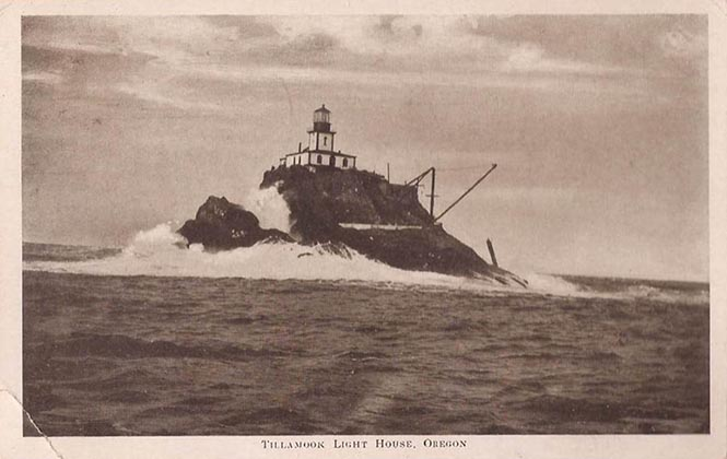 "A picture postcard from the 1910s shows ""Terrible Tilly"" on a calm day."