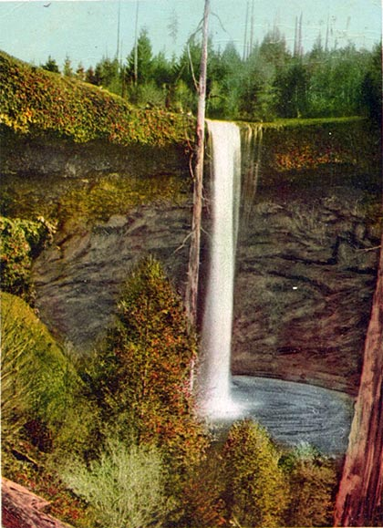 South Falls as seen in 1906 (postcard)