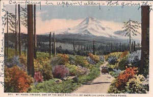 A postcard image of Mount Hood, dated 1916