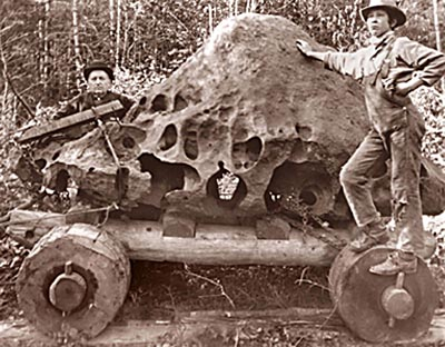 The Willamette Meteorite in the process of being stolen, in 1905.