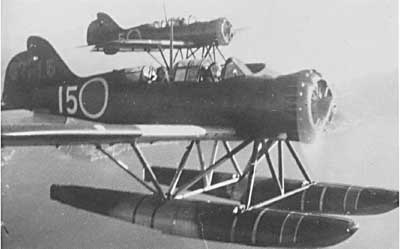 Wartime photo of the E14Y seaplane, the type launched from I-25 for the bombiung attack at Brookings.