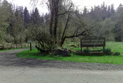 Entrance to Wilhoit Springs, near Molalla, Oregon