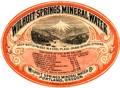 Wilhoit Springs Mineral Water label