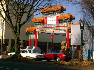 Chinatown in Portland, circa 1890
