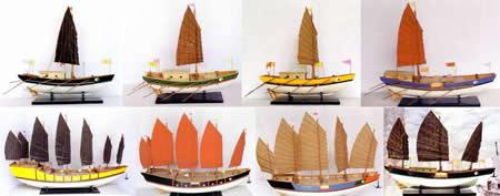 Model junks on display in Antwerp. More info: www.lazloart.com