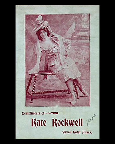 One of the calling cards Klondike Kate handed out during performances.