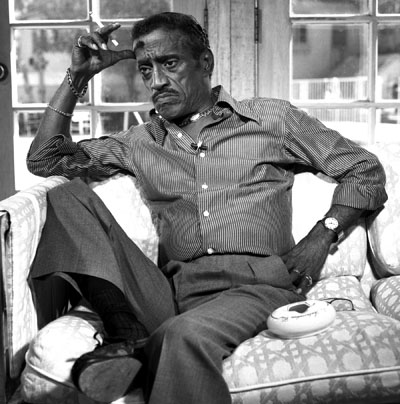 Sammy Davis Jr. at his home in Beverly Hills.