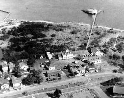 Point Adams Coast Guard life station in the early 1970s