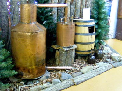 Brian Stansberry photo of a moonshine still exhibit in a Kentucky museum