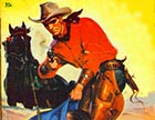 "This cover illustration from ""Masked Rider Western,"" published in 1950, bears an uncanny resemblance to the events that kicked off Vigilante rule in Crook County."