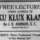 This modest display ad ran in the Silverton Appeal the week before a big Klan recruiting meeting there.