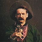 Actor Justus Barnes takes a shot straight into the camera at the end of  a 10-minute silent Edison Films production called 'The Great Train Robbery,' the filming of which started in November 1903 – two months  after Bill Miner's gang tried to rob the train just outside Portland. It's hard to miss the similarity between Barnes' character and Bill Miner.