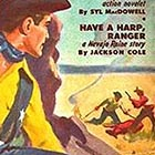 "The painting on the cover of this July 1950 issue of Exciting Western shows the scene that most of us think of when we hear ""rustler"" — two desperados caught in the act of stealthily changing the brand on a stolen cow. While Hank Vaughan did this sort of thing, his method was to drive the stolen cattle deep into the wilderness first, and he'd never do just one cow at a time."
