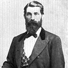Hank Vaughan as he appeared around the age of 35, in 1885, when he was beginning to settle down in the Athena-Pendleton area.