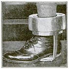 "This small article ran in the August 1922 issue of Popular Science Magazine, demonstrating that the ""Oregon Boot"" was still in regular use in the early 1920s. The caption claims it weighs 50 pounds, but that figure is almost certainly a typo or a mistake; the heaviest one used at the Oregon State Penitentiary was 28 pounds. (Image: Popular Science)"