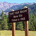 "The meadow in which the town of ""No Name City"" was constructed for Paint Your Wagon, in the Wallowa Mountains. (Image: Roger Medlin/oregonicons.com)"