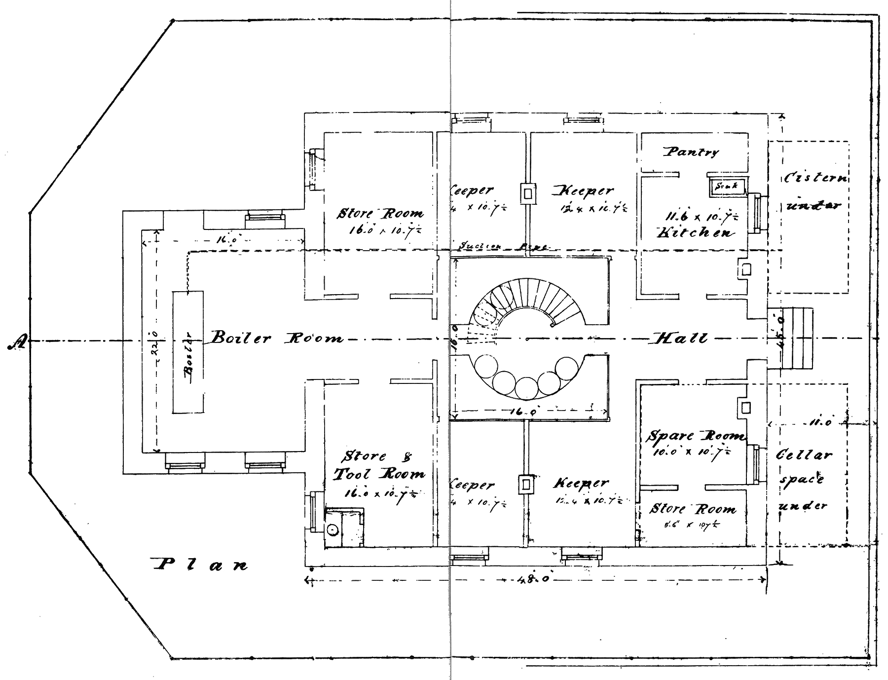 Lighthouse floor plans lighthouse with cape attached Lighthouse home floor plans