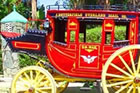 A modern reproduction of a classic Concord Stagecoach.