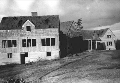 Vacant and unoccupied Delake Rod and Gun Club as seen in 1960.