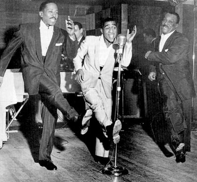 The Will Mastin Trio: Sammy Davis Sr., Sammy Davis Jr., and Will Mastin.