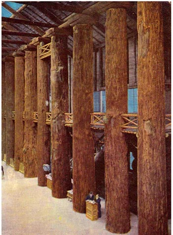 Oregon Lost World S Biggest Log Cabin In Spectacular 1964