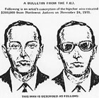 An artist's sketch of what D.B. Cooper may have looked like, from an FBI bulletin sent out shortly after the skyjacking.